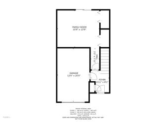 Lower level floor plan. Inside access from garage. (photo 4)