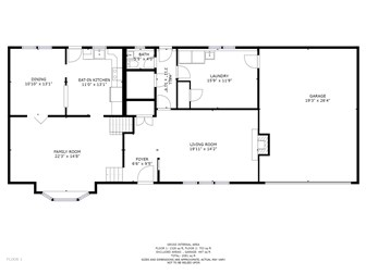 Lower and main level floor plan (photo 4)