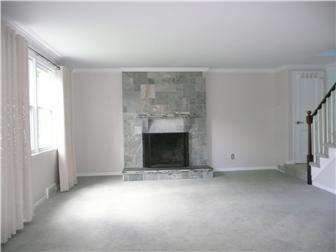 Spacious Living Rm w/ Tiled wood burning fireplace (photo 3)
