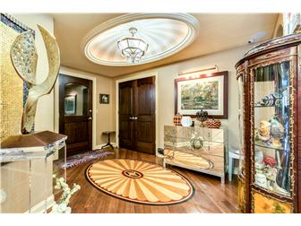 Foyer with custom inlays in flooring (photo 3)