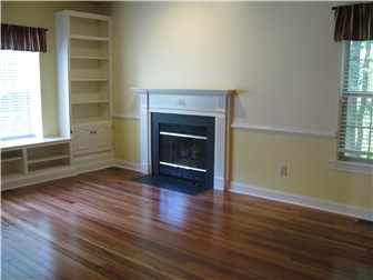 Family Room w/ Built-Ins and Gas Fireplace (photo 3)