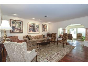 Formal Living Room w Santos Cherry Mahogany Floors (photo 3)