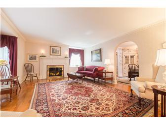 Large formal living room with fireplace (photo 4)