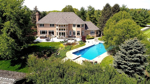 Aerial View of Exterior Back with Pool
