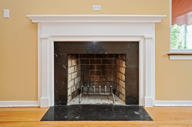 Fireplace in the living room (photo 4)