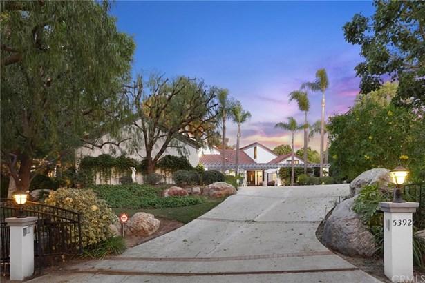 Custom Built,Mediterranean, Single Family Residence - Yorba Linda, CA