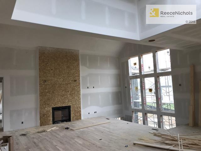 Great Room with Soaring Ceilings and ready for cabinets & trim. 4/22/2018 (photo 3)
