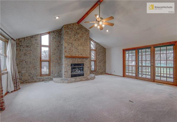 AWESOME GREAT ROOM WITH BEAUTIFUL FIREPLACE WALKS OUT TO COVERED DECK (photo 1)