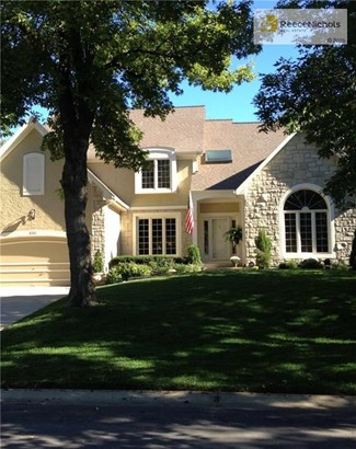 Front view in full summer - lots of dappled shade and mature trees. (photo 1)