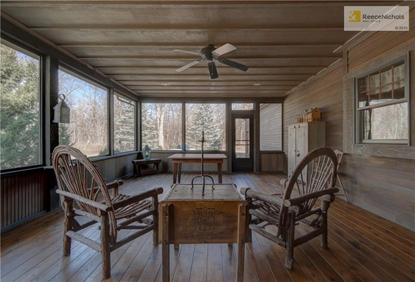 Screened porch done in complete cedar from floors, walls and ceiling (photo 5)