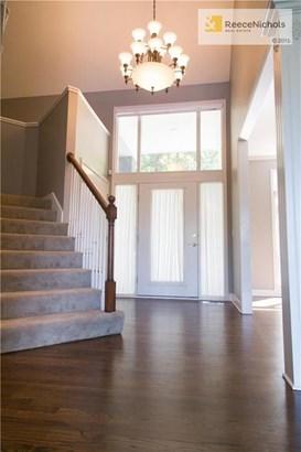 Entry, newly refinished hardwood flrs, upgraded light fxt, New carpet & paint (photo 2)