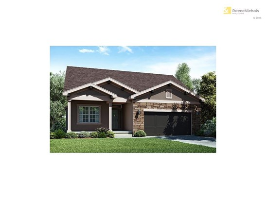 Simulated photo of The Willow. Reverse 1.5 story home. 2442 square feet. 3 bedrooms, 3 bathrooms, 2 car garage. Backs to green space. Walk Out Lot. Neighborhood features include a community swimming pool and cabana, two water features, walking trails and (photo 1)