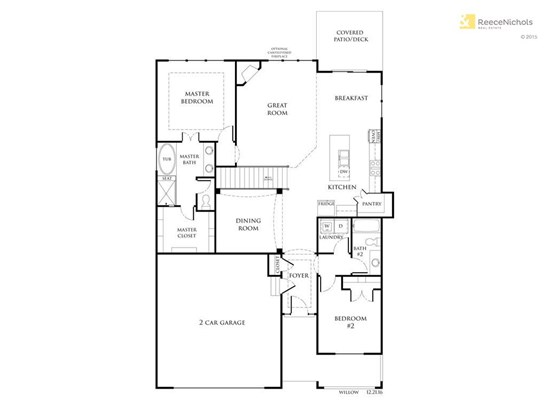 The Willow Main Level Floor Plan. This is the same floor plan as our neighborhood sales office across the street that is complete. Come see for yourself and prepare to fall in love! (photo 2)