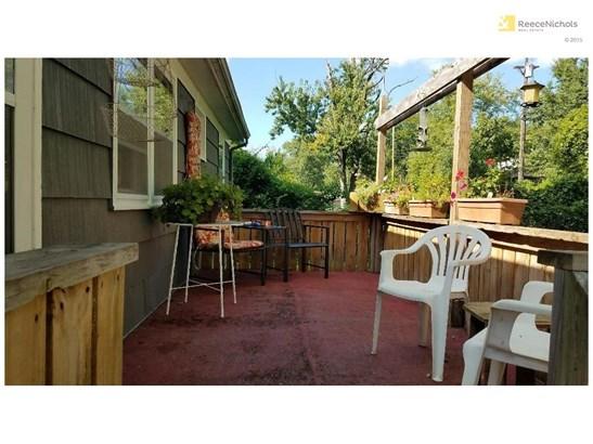 Deck overlook large fenced yard. (photo 3)