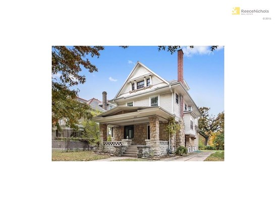 Classic shirtwaist in midtown Kansas City with huge front porch and private drive. (photo 1)