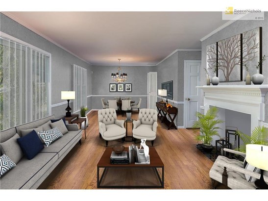 VIRTUAL STAGING OF Living/Dining Room (photo 5)