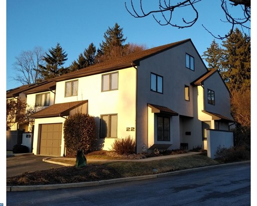 Row/Townhouse/Cluster, Colonial,Contemporary - BRYN MAWR, PA (photo 1)