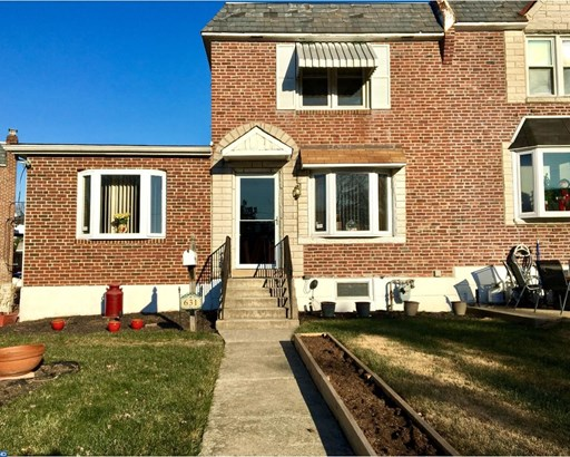 Row/Townhouse, Colonial,EndUnit/Row - GLENOLDEN, PA (photo 1)