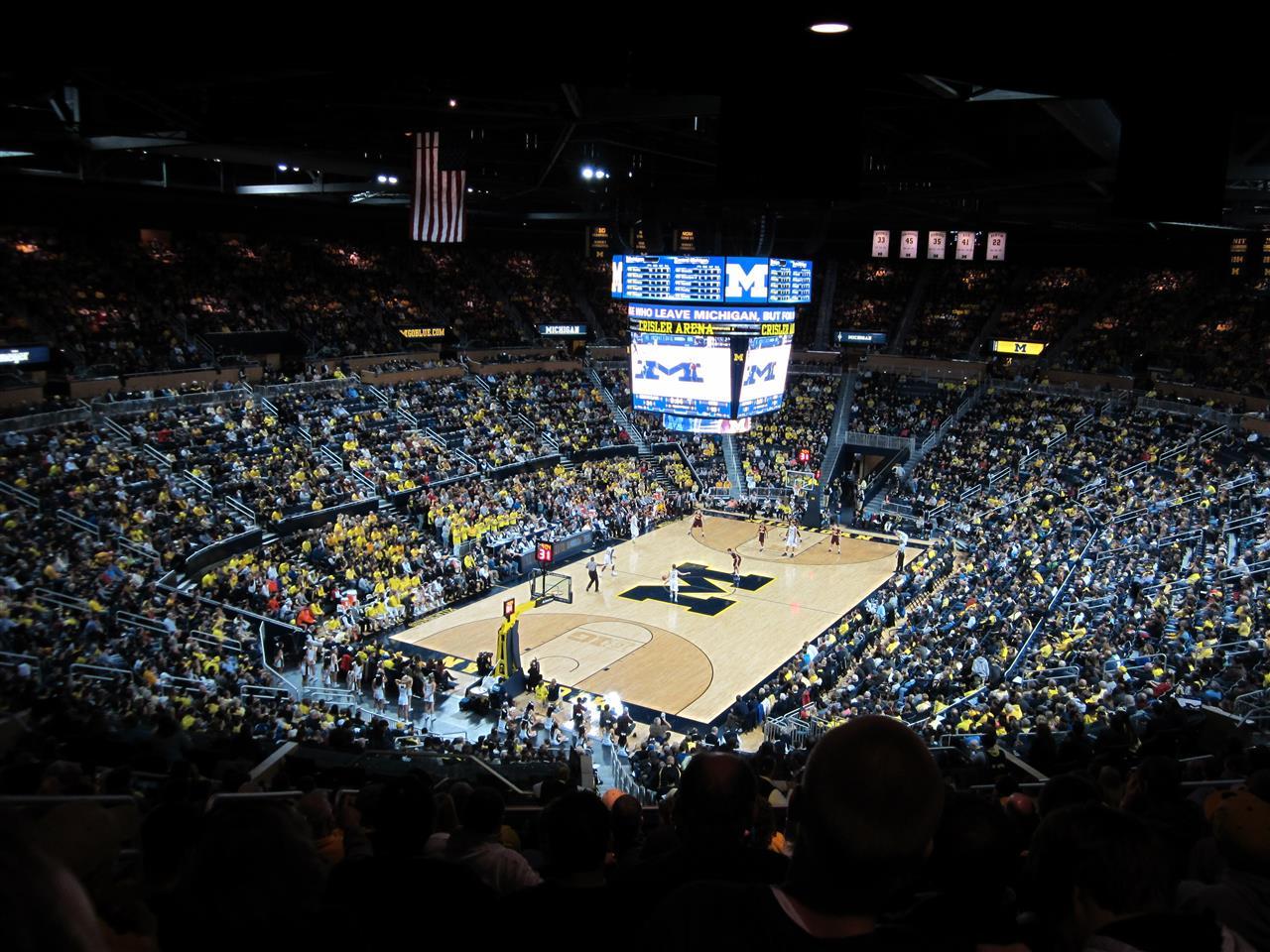 University of Michigan, Crisler Center, Men's basketball game, Ann Arbor, MI