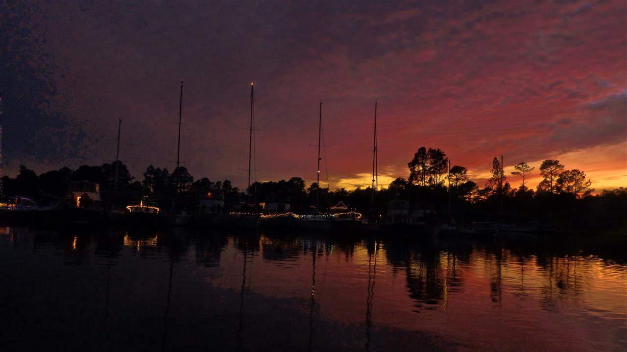 Sunset in Fairfield Harbour Marina, New Bern, NC