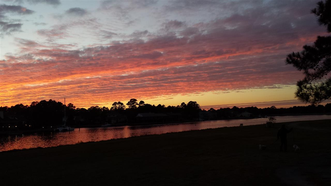 Our sunset at Fairfield Harbour in New Bern NC