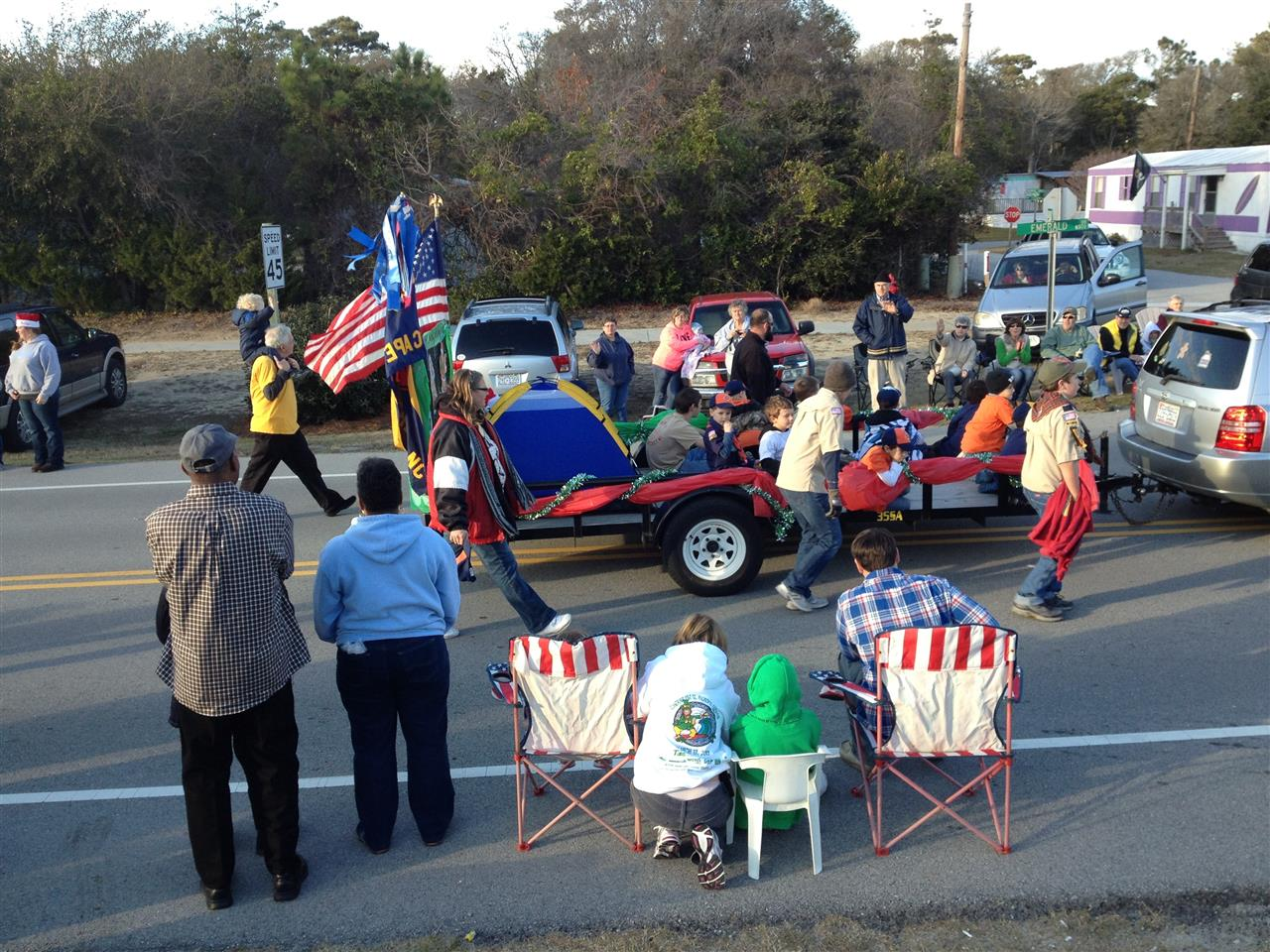 Christmas Parade at Emerald Isle