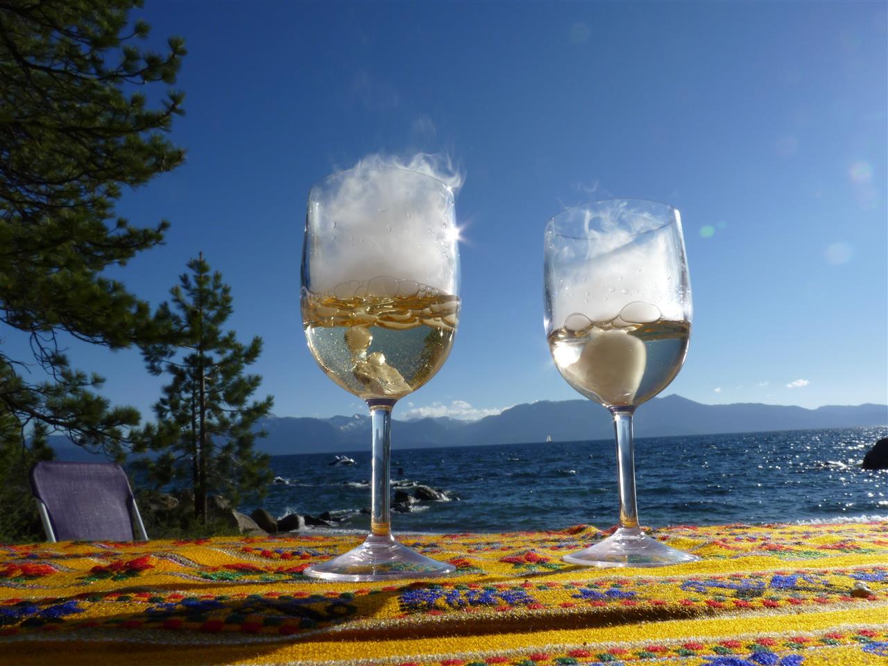 Summer Toast at Skyland Beach Zephyr Cove, Nevada Lake Tahoe