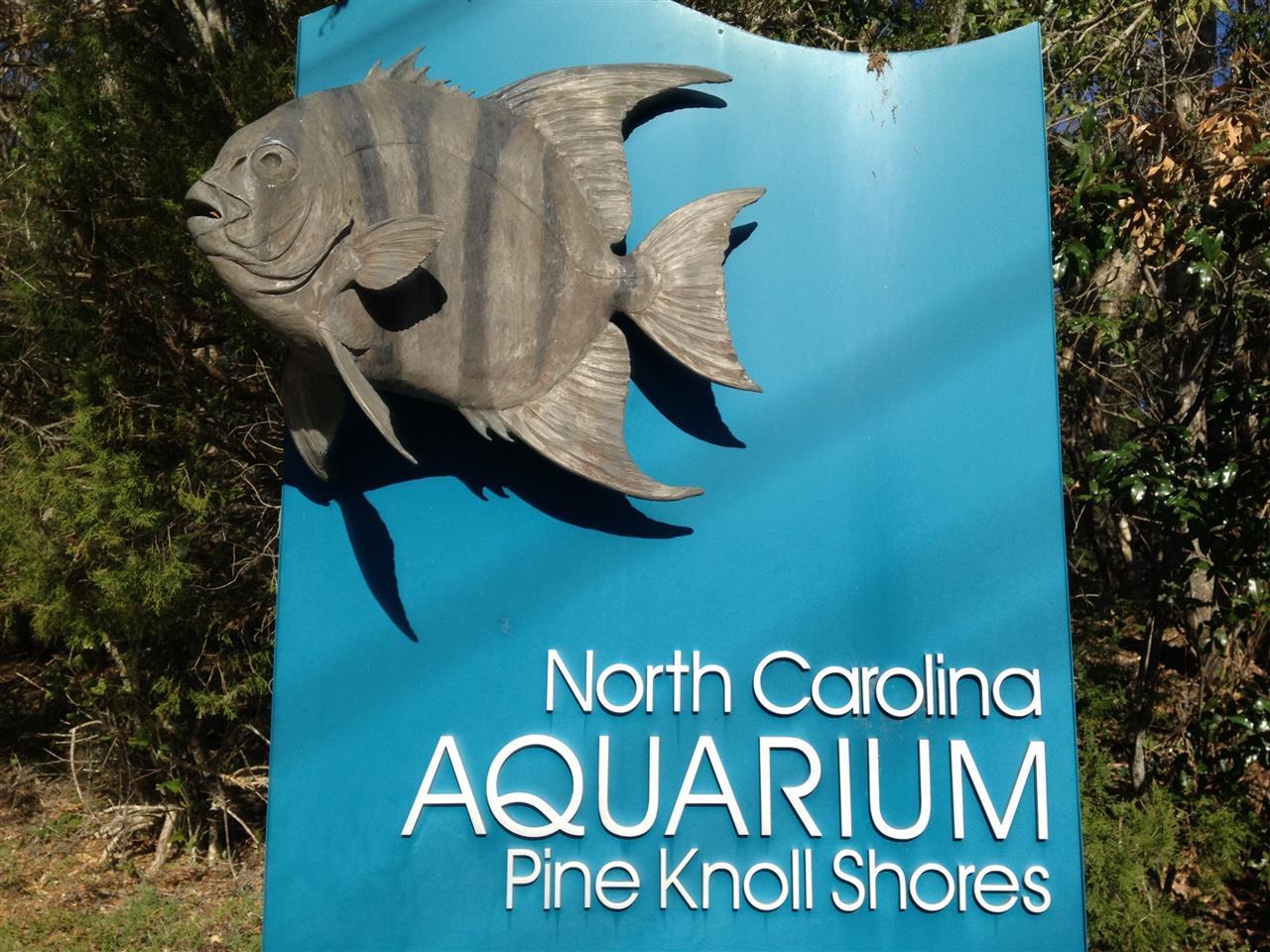 NC Aquarium Sign at Crystal Coast, NC