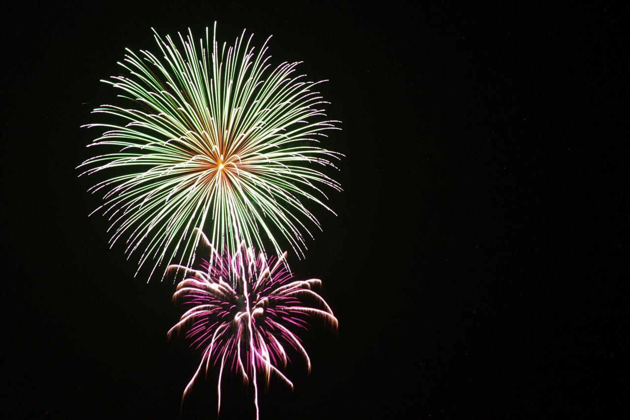 Fireworks over Emerald Isle, NC
