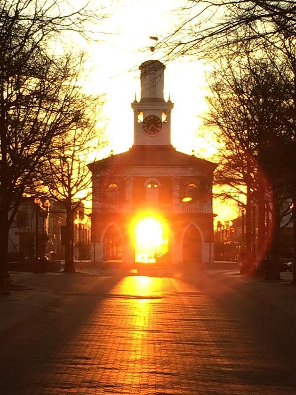 Twice a year the sun rises where it peaks through the arches of Fayetteville North Carolina's historic Market House in the heart of our revitalized downtown area.