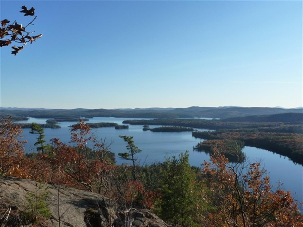 View of Squam Lake in New Hampshire taken from the top of Rattlesnake Mountain.