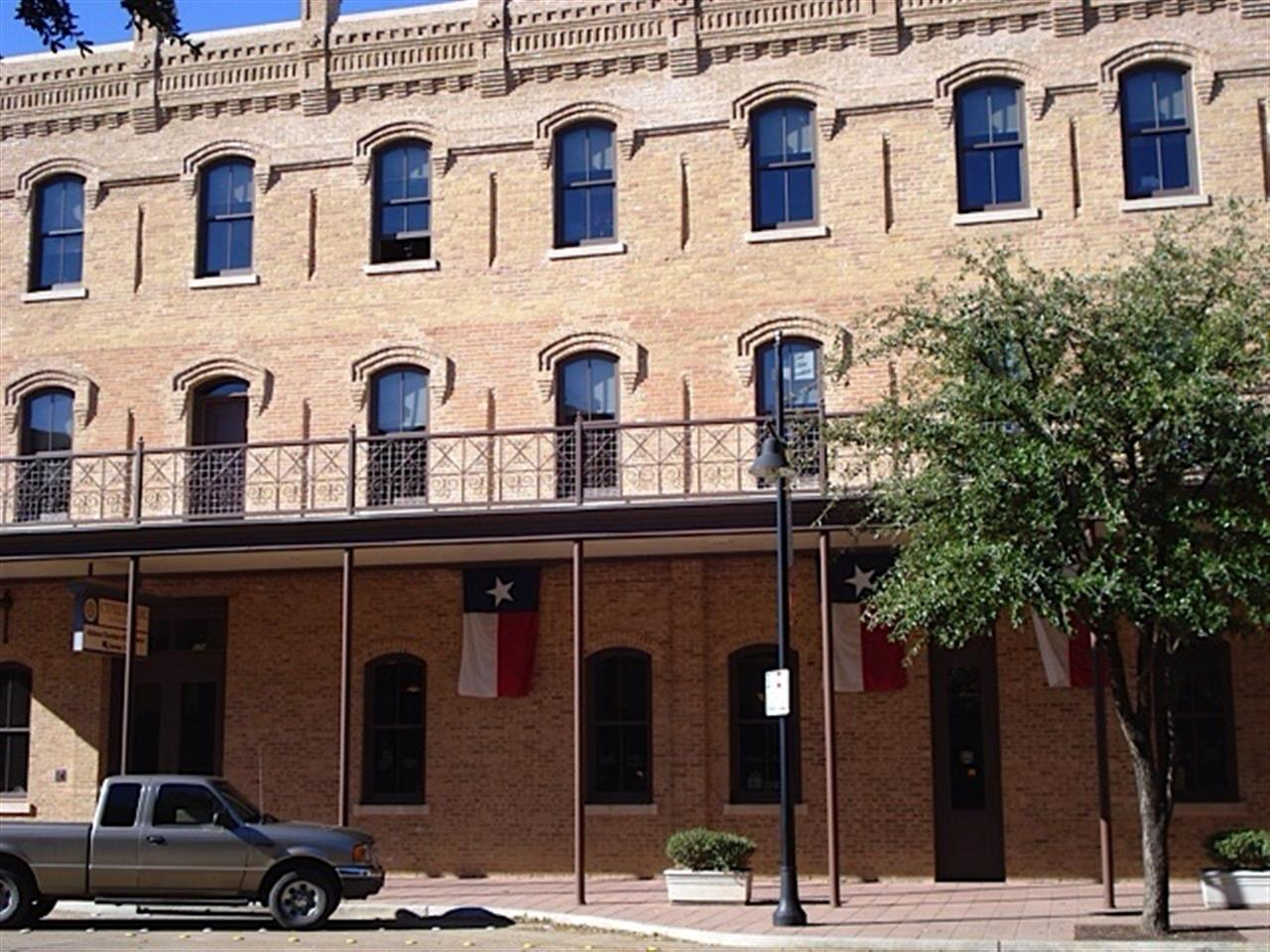 Abilene TX, Downtown, Texas Flag