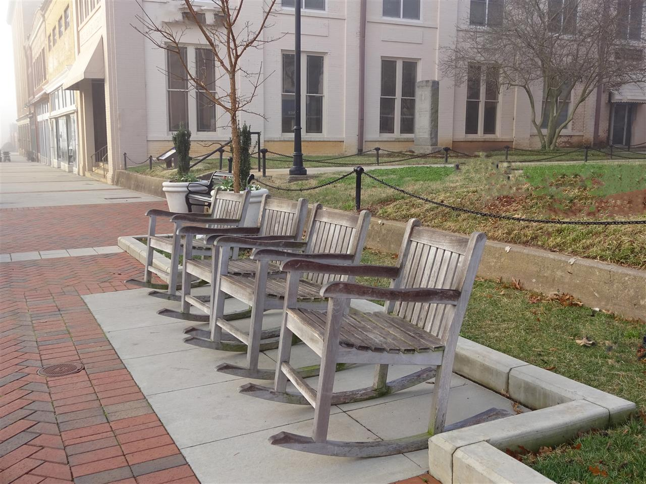 #Statesville #NC #Downtown #Rocking Chairs #Relax