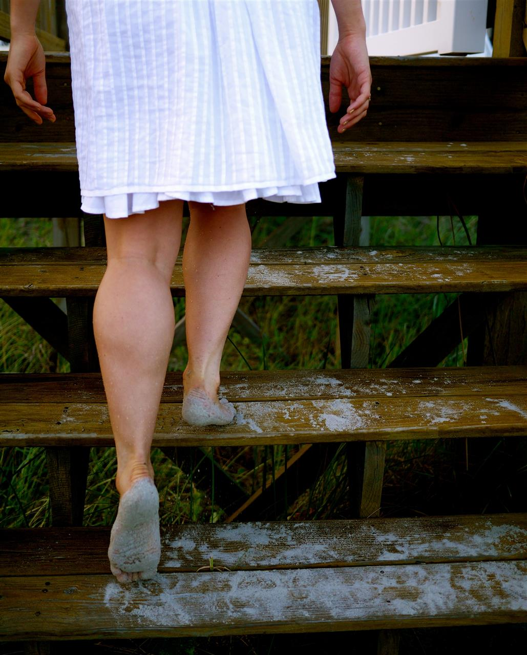 Sandy feet, Ocean Isle, North Carolina