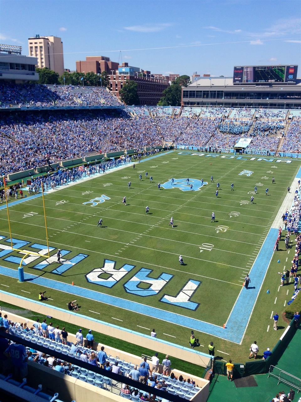 Fall football season starts in Kenan Stadium, University of NC-Chapel Hill