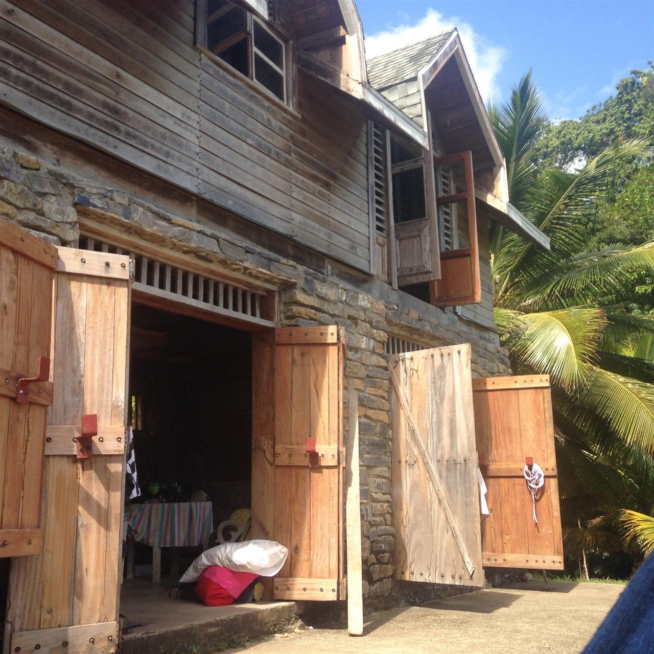 Old shack, simple living in Paramin Village, Trinidad
