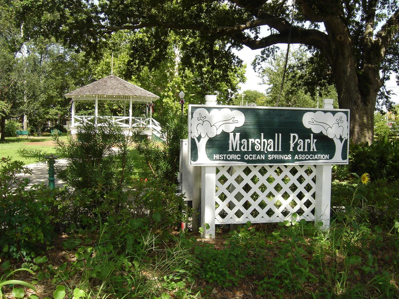 Ocean Springs, MS Marshall Park in downtown Ocean Springs