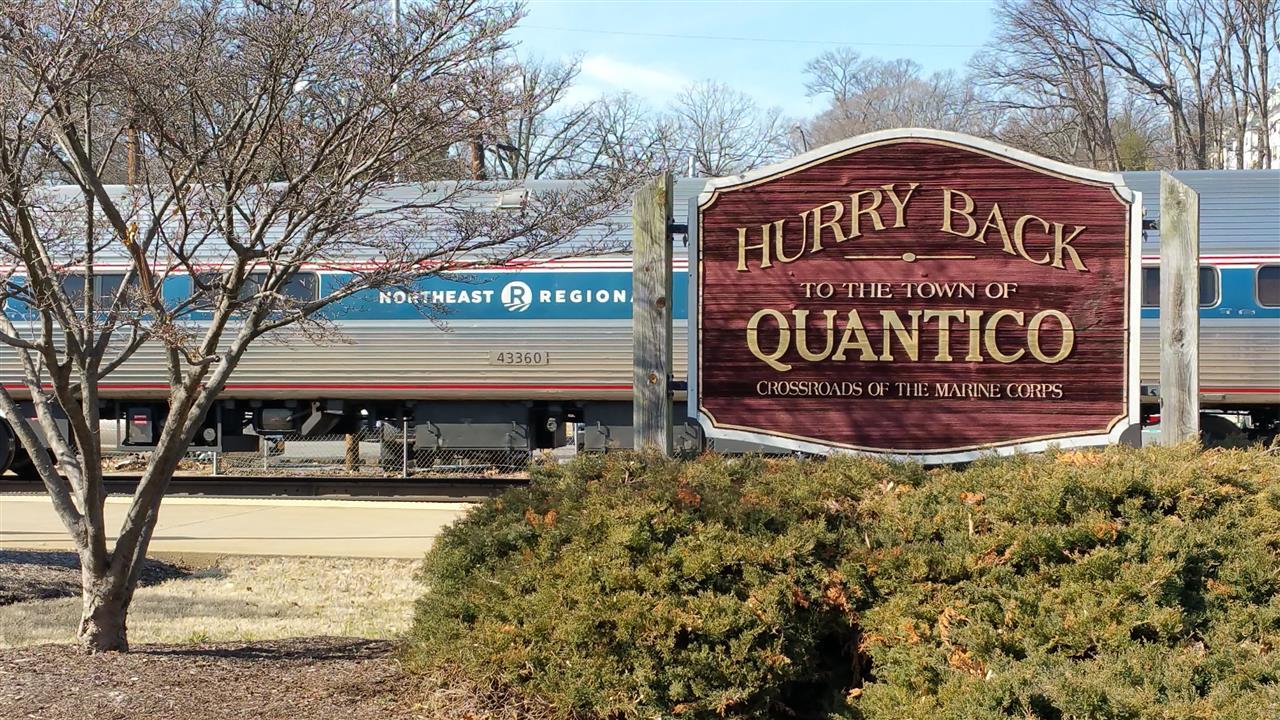 Virginia Rail Express (VRE Train), Quantico VA
