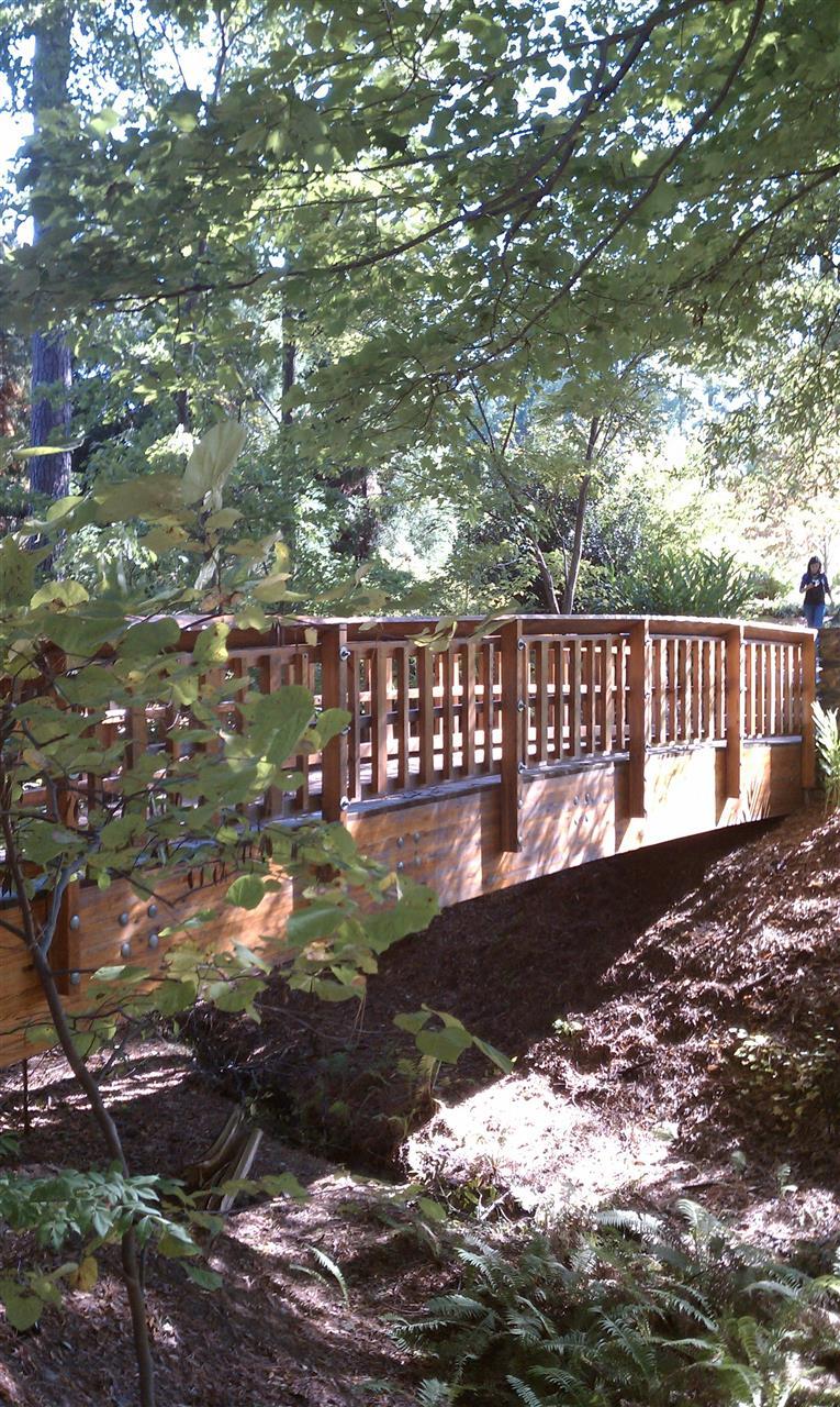 Creek Bridge, Duke Gardens Durham NC
