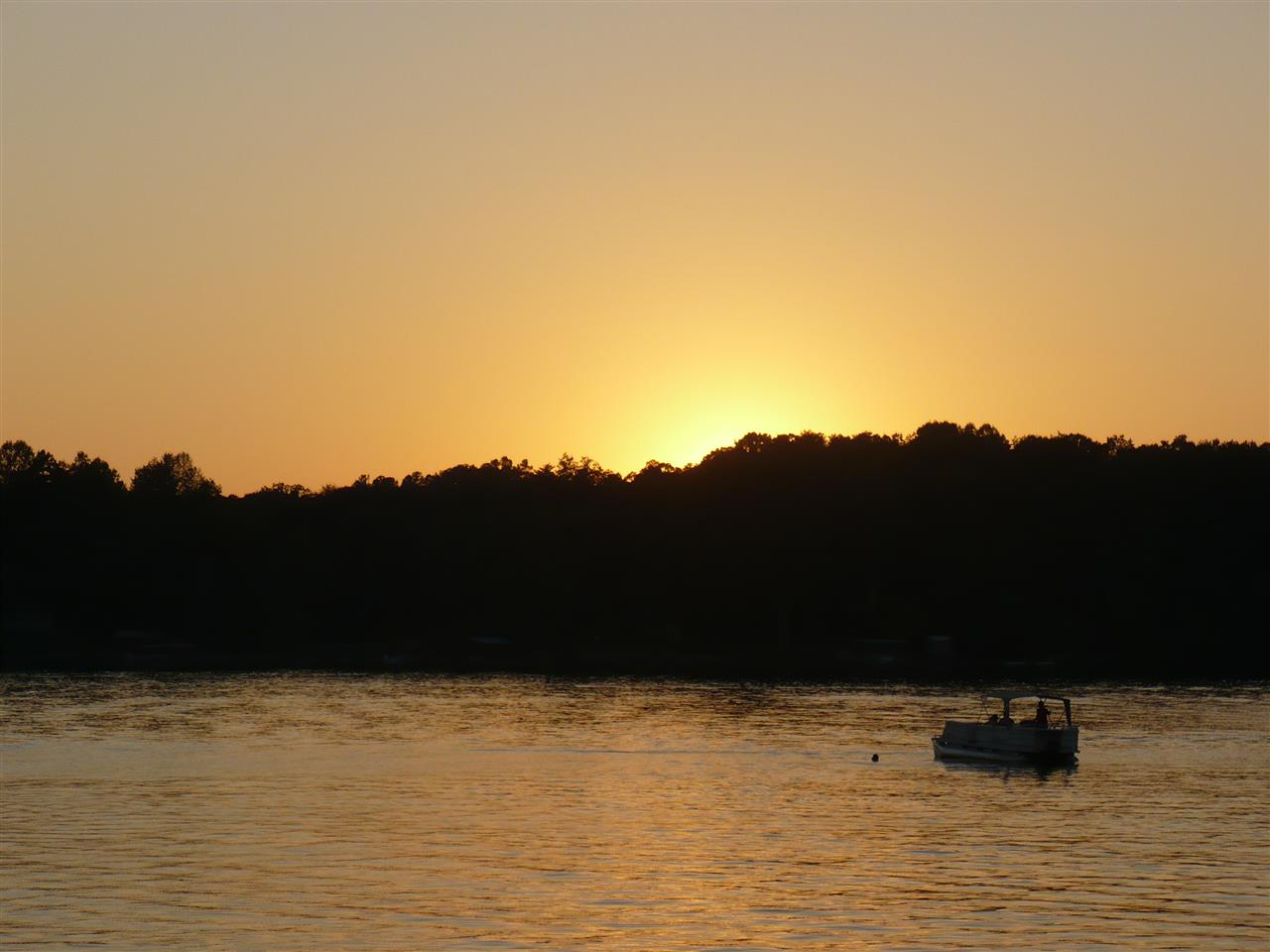 Sunset over Lake Norman in Davidson, NC.