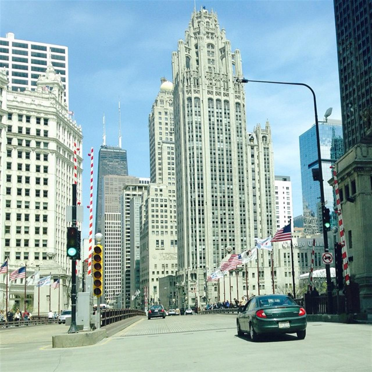 Michigan Ave at the Chicago River  #tribunetower #chicago #leadingrelocal #michiganave