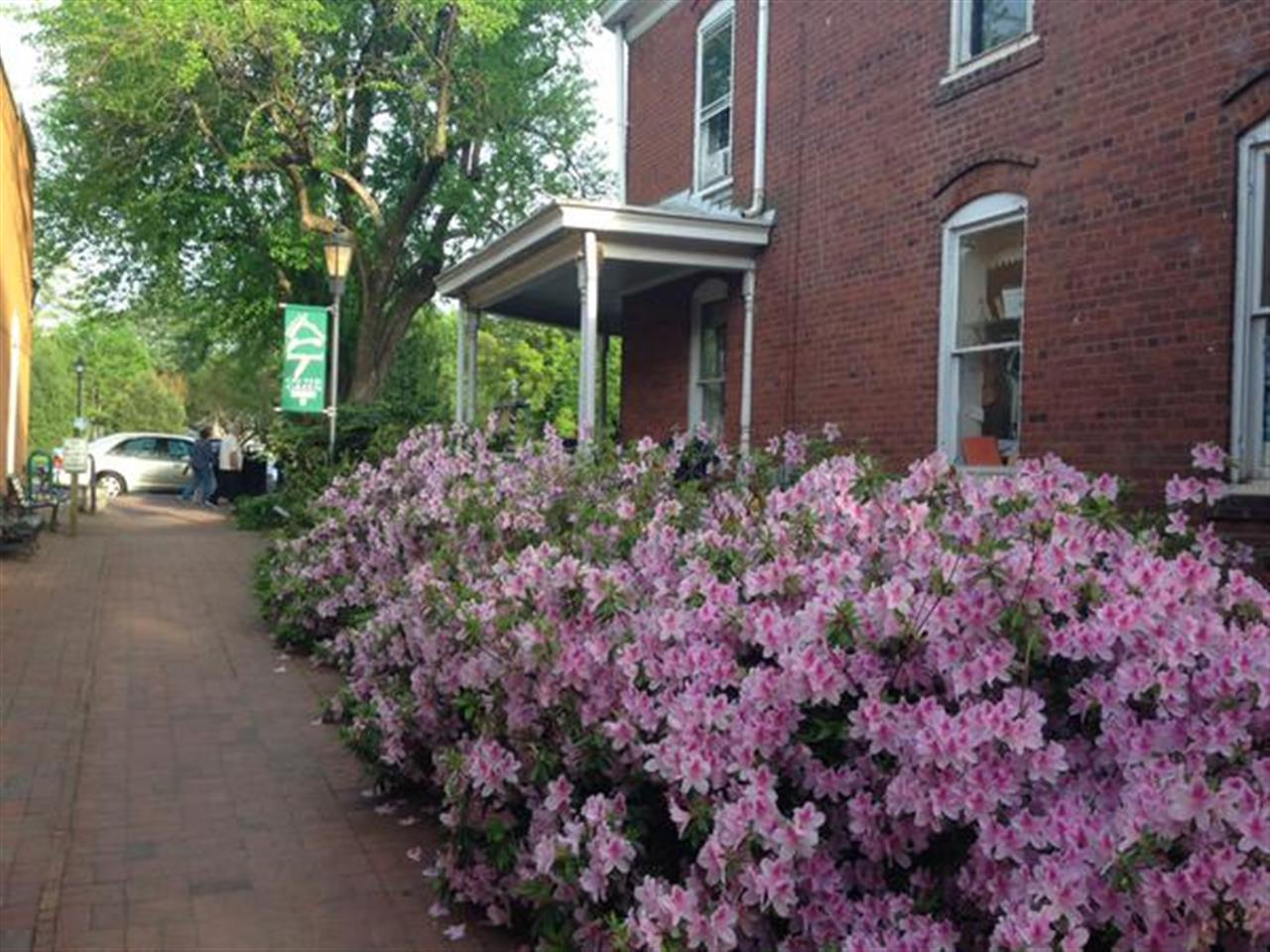 Springtime in downtown Davidson voted the best walkable downtown in America! #LeadingRELocal #LakeNorman #DavidsonNC