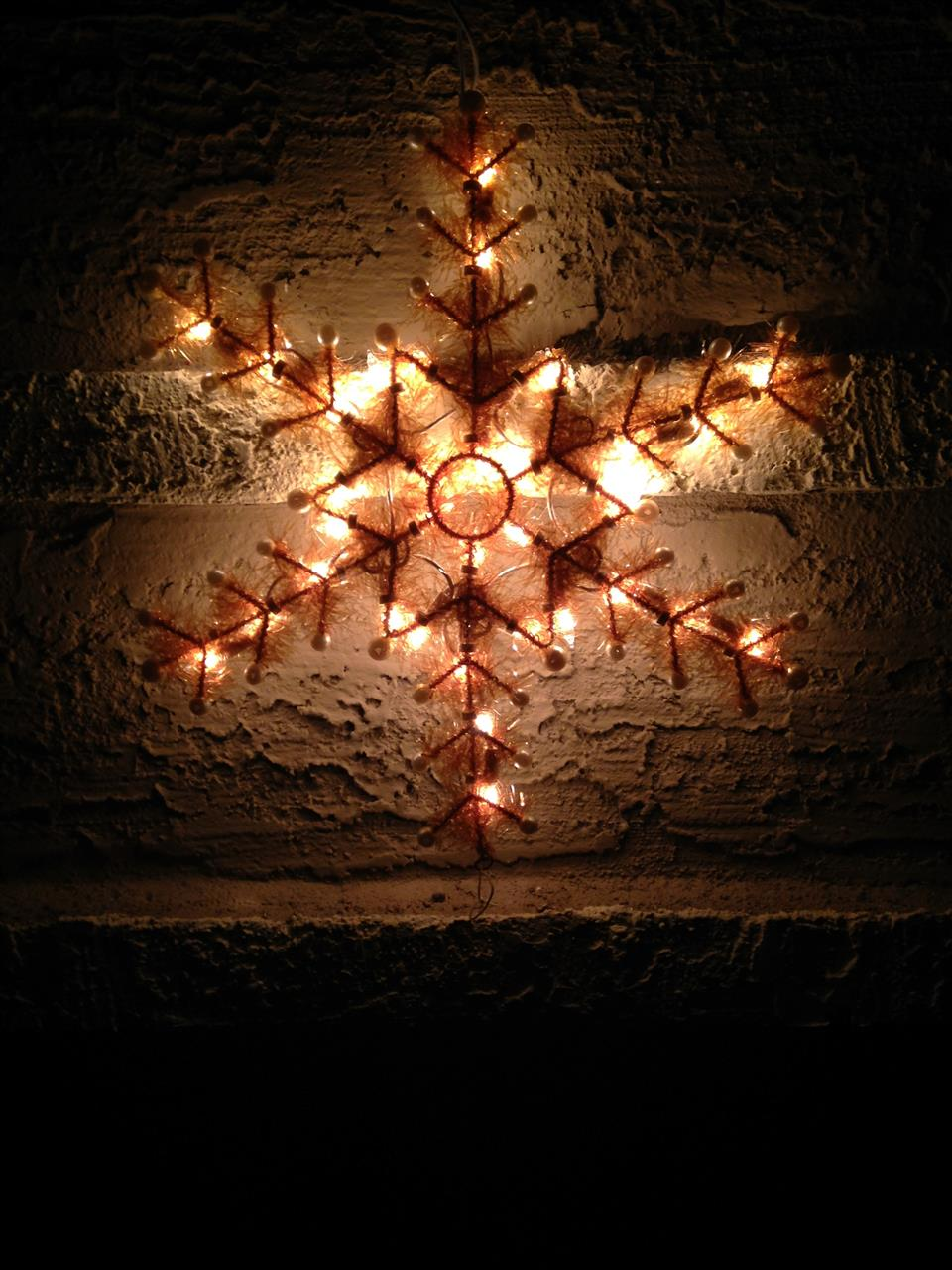 Snowflake on local home at Christmas Scottsdale AZ