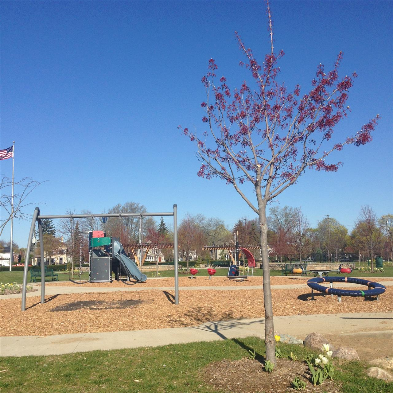 Playground at Barnum Park ~ Birmingham, Michigan #LeadingRElocal #Birmingham #Michigan