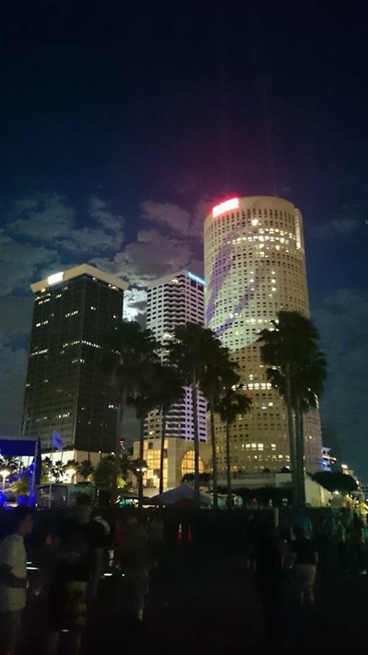 Downtown Tampa!  Go Bolts!