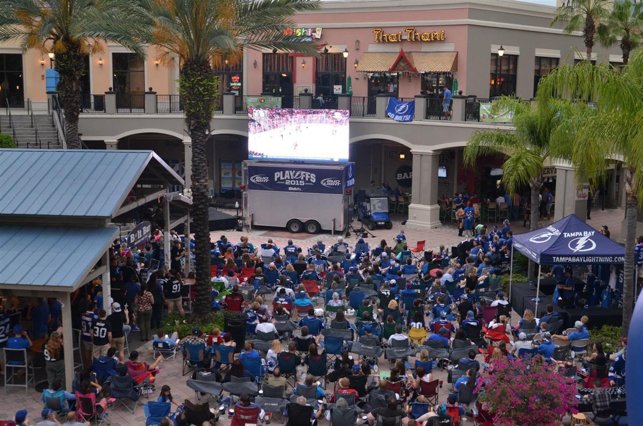 Channelside District, Tampa, FL Stanley Cup Playoffs!  Go Bolts!