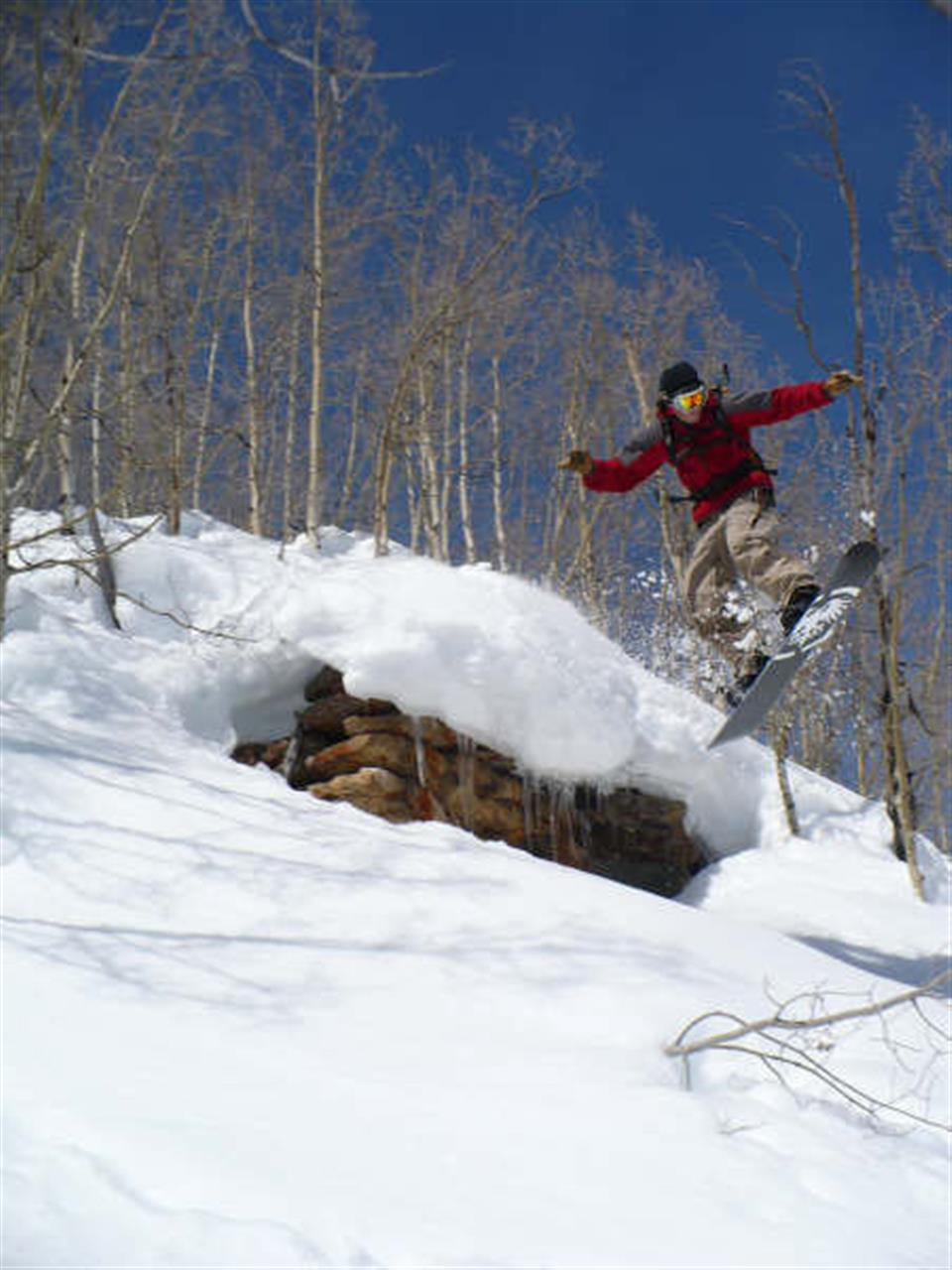 Snowboarding near Boulder, CO