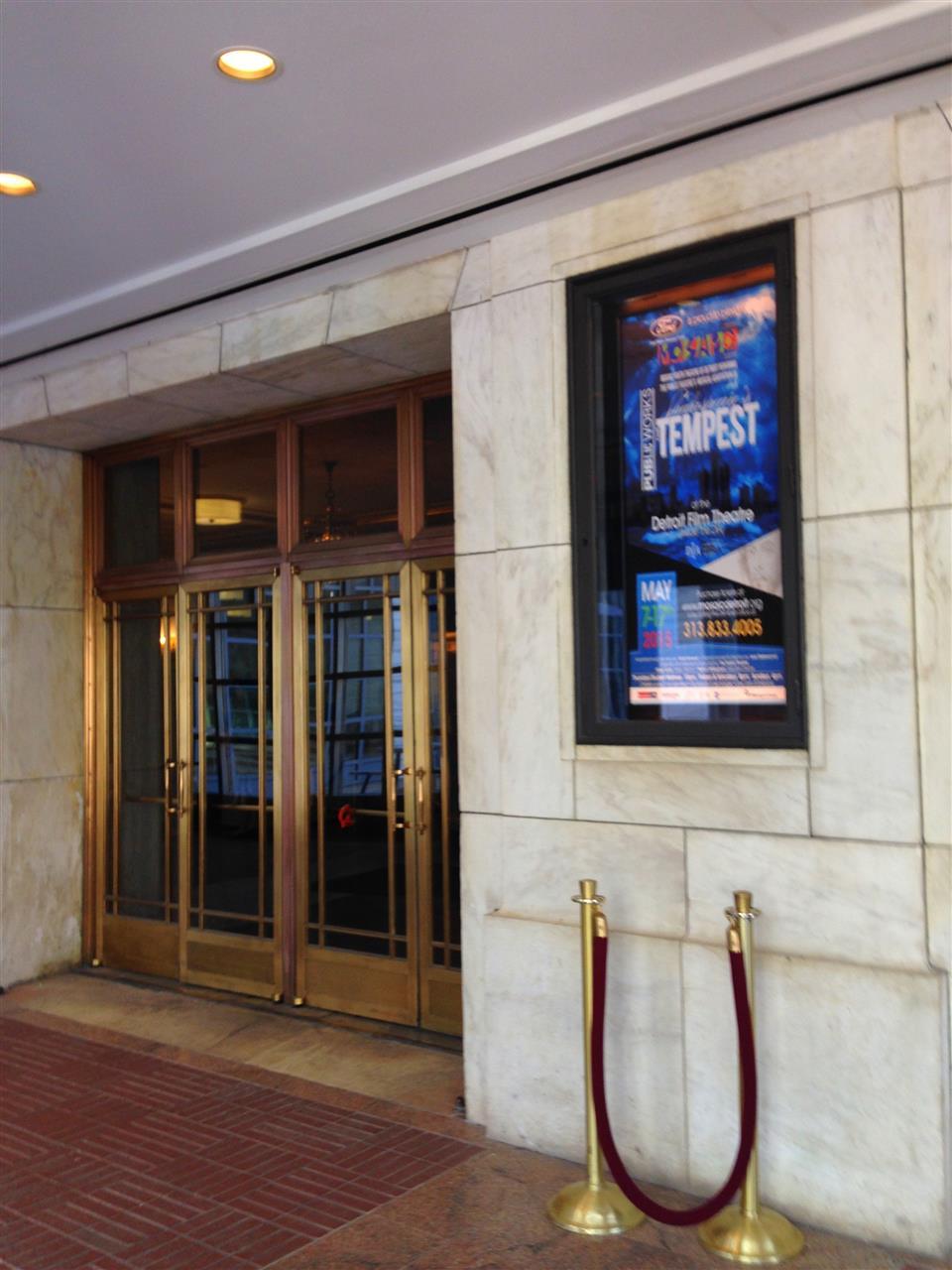 Detroit Film Theatre entrance ~ Detroit, Michigan #LeadingRElocal #Detroit #Michigan