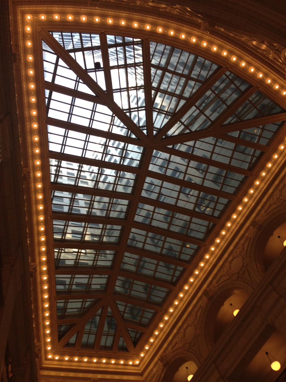 Ceiling in the restored David Whitney Building lobby. The David Whitney Building is a historic class-A skyscraper located within the Grand Circus Park Historic District ~ Detroit, Michigan #LeadingRElocal #Detroit #Michigan