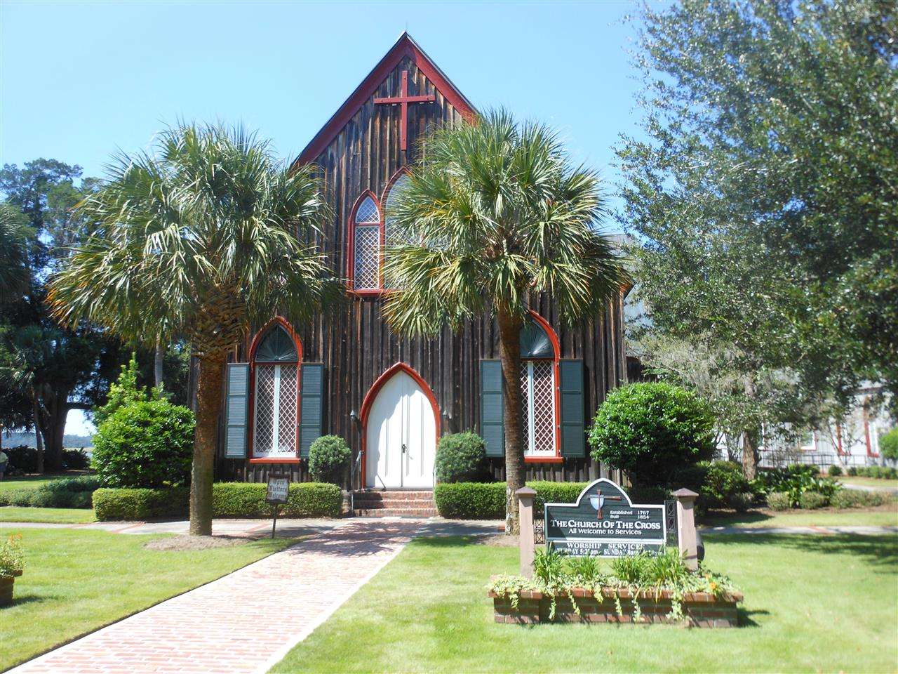 Bluffton / Hilton Head Island SC, beautiful and historic Cross Church in Bluffton